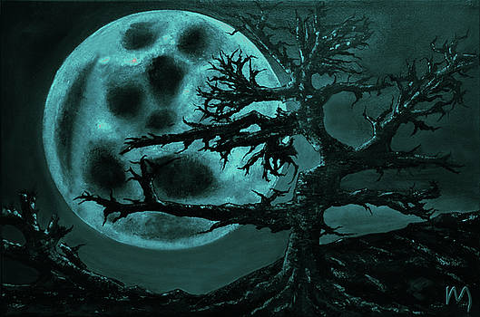 Stormy sinister moon  by Rolly Mouchaty
