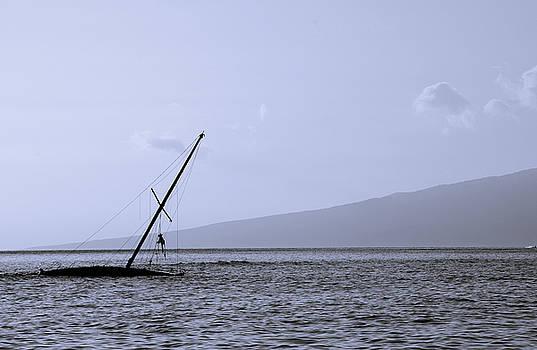 Sinking Boat, Maui, Hawaii by Preston Broadfoot