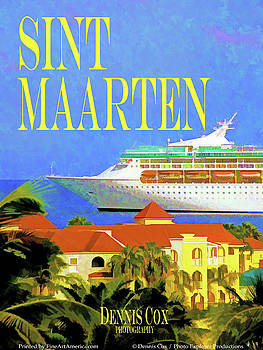Dennis Cox Photo Explorer - Sint Maarten Travel Poster