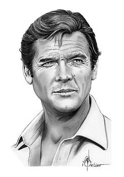 Sir Roger Moore by Murphy Elliott