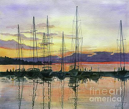 Marilyn Smith - Sister Bay Harbor Sunset