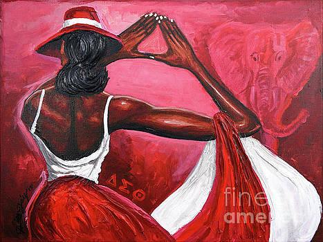 Red Ellegance by The Art of DionJa'Y