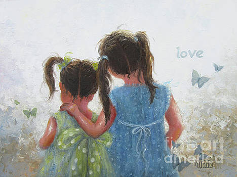 Sister Love and Butterflies by Vickie Wade