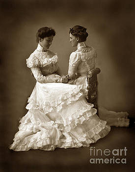 California Views Mr Pat Hathaway Archives - Sisters in white  Victorian dress Mirror-image twins 1890
