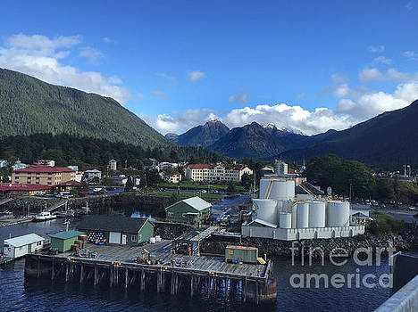 California Views Mr Pat Hathaway Archives - Sitka from the waterfront showing the Three Sisters in the back 2015