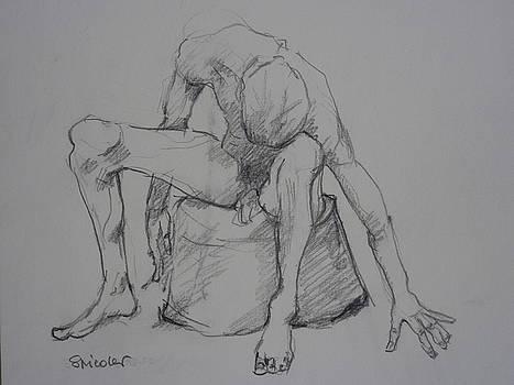 Sitting Man by Alfons Niex