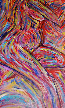 Sitting nude by Carolyn Donnell