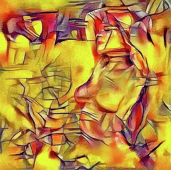 Sitting nude VIII by Pavel Potocek