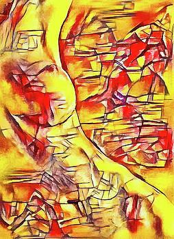 Sitting nude X by Pavel Potocek