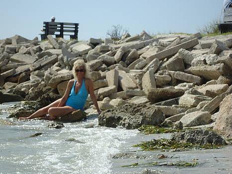 Sitting On The Rocks by Debbie Wassmann