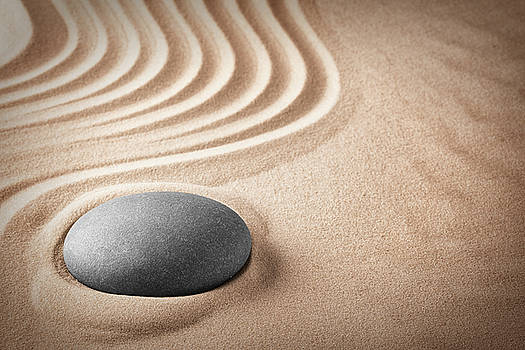 Sitting solid - zen stone by Dirk Ercken