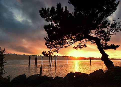 Siuslaw River Autumn Sunset by Lara Ellis