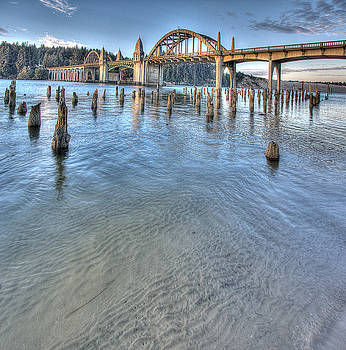Siuslaw Shoreline by David Rigg