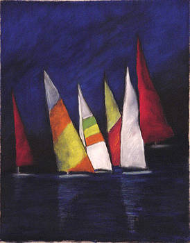 Six Sailing Ships by Annette Kagy