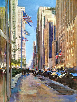 Sixth Avenue Flags by Peter Salwen