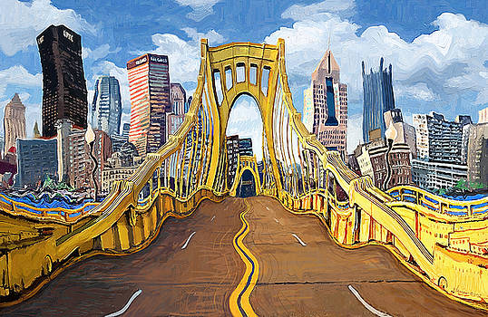 Sixth Street Bridge, Pittsburgh by Frank Harris
