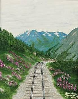 Skagway Railroad by Elizabeth Hannah