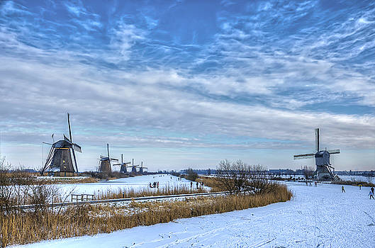 Skating around the Windmills by Frans Blok