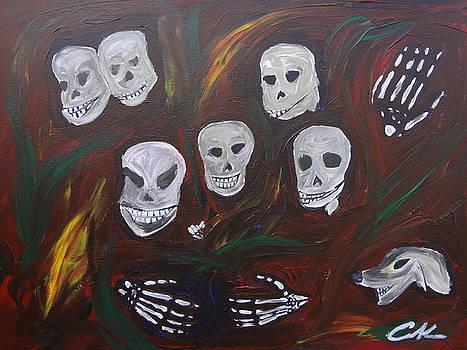 Skeleton Family Reunion by Carlos Alvarado