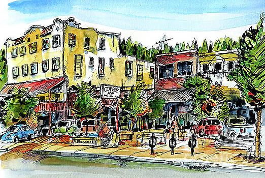 Sketch Crawl In Truckee by Terry Banderas