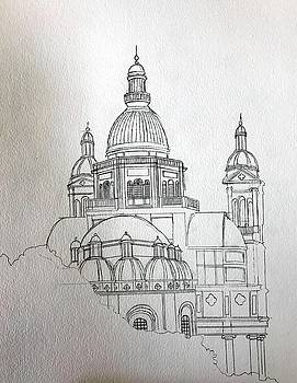 Sketch Christ the King Church by Ray Agius