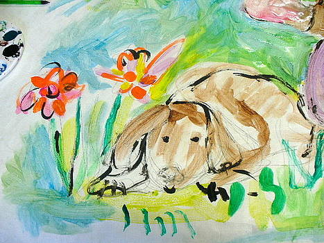 Sketch Of Dog by Joyce Goldin