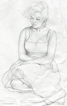 Sketch of Marilyn Monroe by Roz Abellera Art