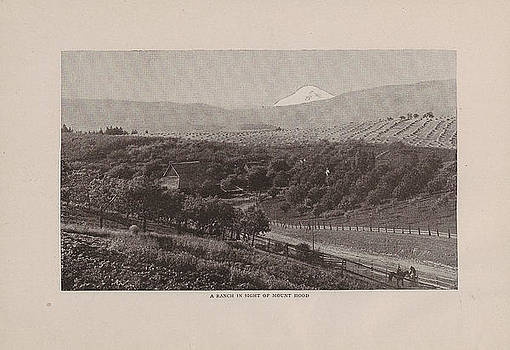 Chicago and North Western Historical Society - Sketch of Ranch Near Mount Hood From 1908 Tour Guide