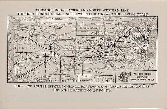 Chicago and North Western Historical Society - 1908 Train Route Map