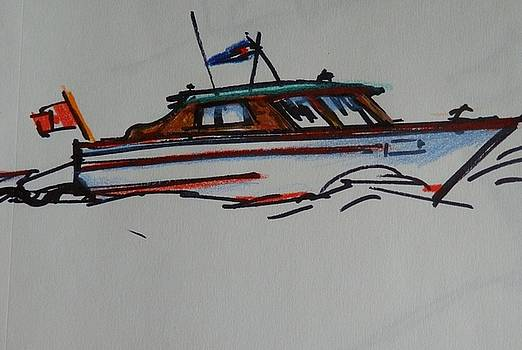 Sketch of Small Cruiser by Catherine Robertson