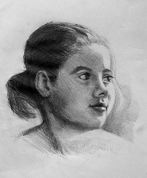 Sketch of Young Girl by William Hay