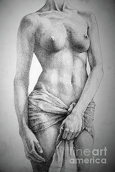 Dimitar Hristov - SketchBook Page 35 The Female Pencil Drawing