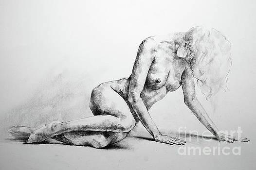 Dimitar Hristov - SketchBook Page 37 Lateral Pose Sketch Drawing
