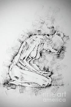 Dimitar Hristov - SketchBook Page 49 Kneeling Pose Drawing