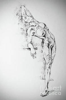 Dimitar Hristov - SketchBook Page 52 Girl art drawing classical pose