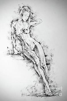 Dimitar Hristov - SketchBook Page 54 Beautiful slim young woman standing pose drawing