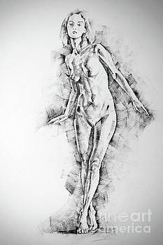 Dimitar Hristov - SketchBook Page 56 Girl stand up pose drawing