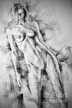 Dimitar Hristov - SketchBook Page 59 Lonely Girl Pose Drawing