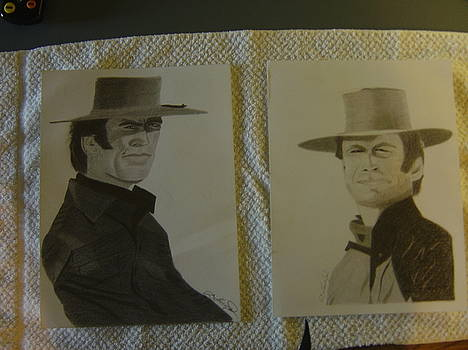 Sketches of Clint Eastwood by Edward Gallego