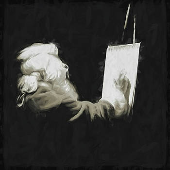 Sketching Santa by Winnie Chrzanowski