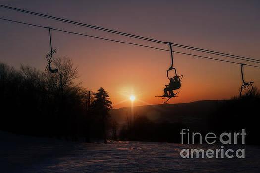 Dan Friend - Ski lift at sunset
