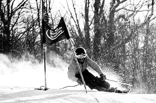 Ski Racer BW by Tim Kirchoff