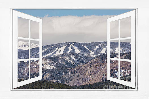 Ski Slopes Open White Picture Window Frame Art View by James BO Insogna