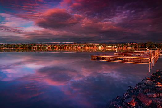 Skies Of Golden Hour by John De Bord