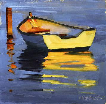 Skiff at Sunset by Kathleen Weber