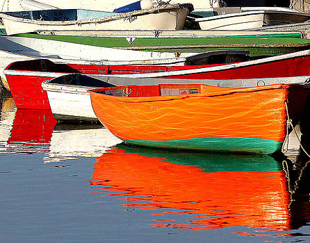 Skiff Reflections by Elaine Somers
