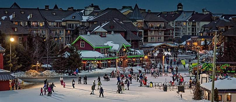 Skiing at the village by Jeff S PhotoArt