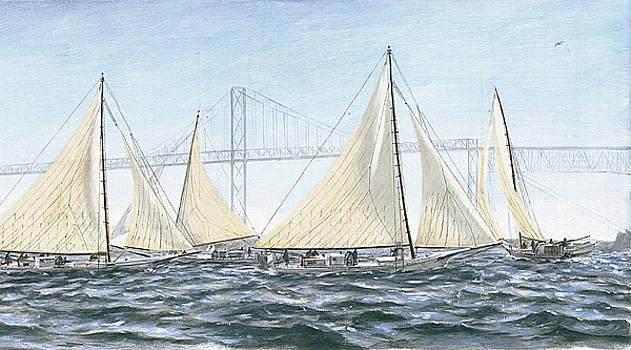 G Linsenmayer - Skipjacks Racing Chesapeake Bay Maryland Detail
