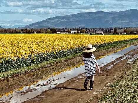 Skipping Through the Daffodils by Rick Lawler