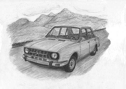 Skoda 105 car. by Kokas Art